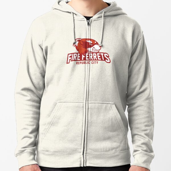 Republic City Fire Ferrets Zipped Hoodie