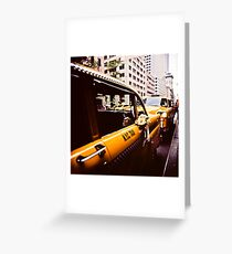 Vintage NYC Taxi Greeting Card