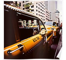 Vintage NYC Taxi Poster