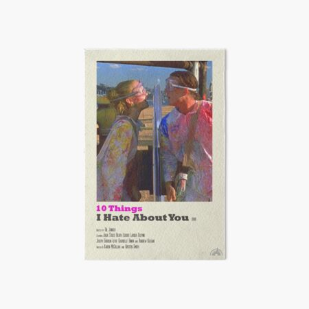 10 Things I Hate About You Polaroid Film Poster Art Board Print