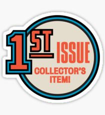 Comic Book Memories - 1st Issue Collectors Item Sticker