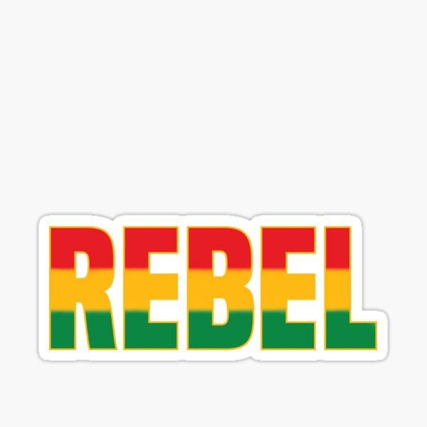 Rebell in Rastafari Rasta Farben Sticker