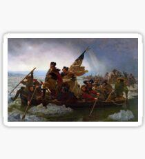 Washington Crossing the Delaware Painting Sticker