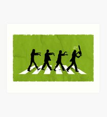 Zombies on Abbey Road Version 01 Art Print