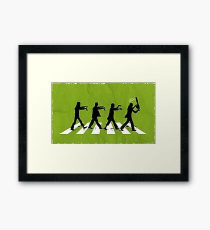Zombies on Abbey Road Version 01 Framed Print