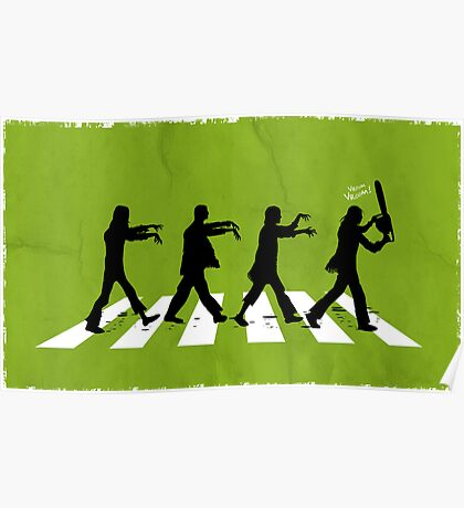 Zombies on Abbey Road Version 01 Poster
