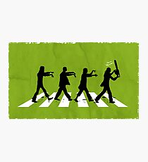 Zombies on Abbey Road Version 01 Photographic Print