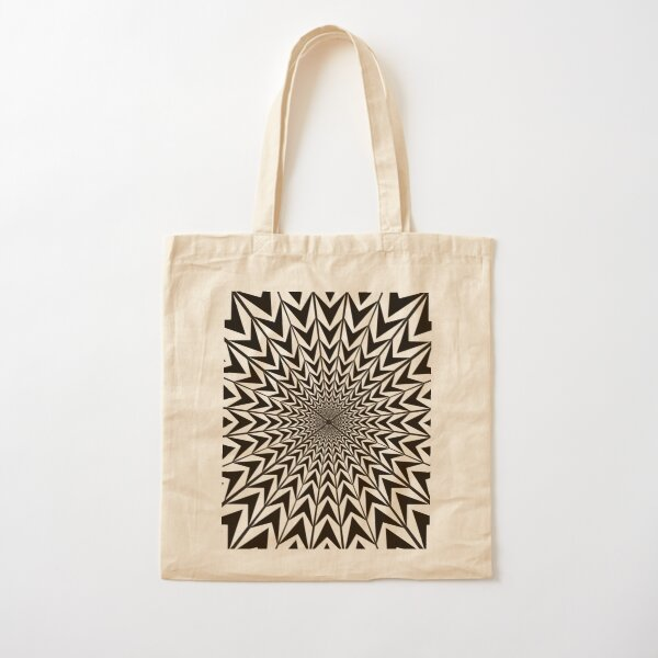 Design, #abstract, #pattern, #illustration, psychedelic Cotton Tote Bag