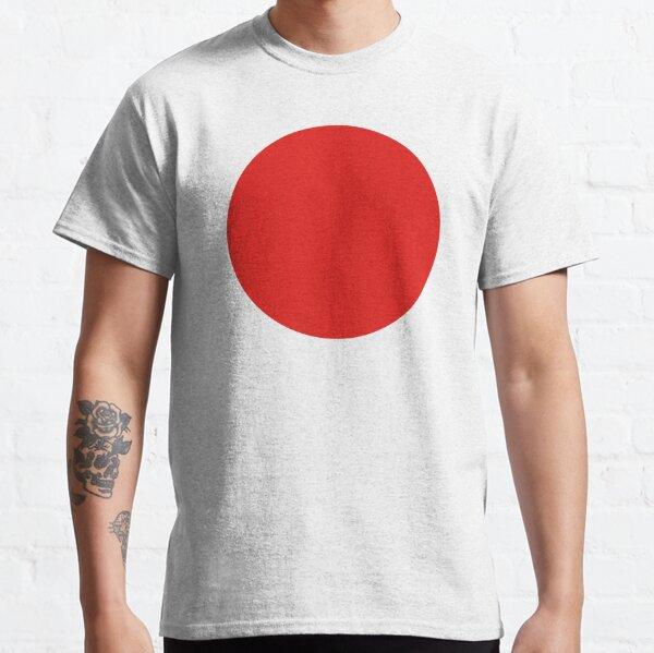JAPAN. JAPANESE. Circle of the sun. Red Circle. Japanese Flag. National Flag of Japan, Hinomaru, Nisshoki, Sun Mark Flag, Nippon. Classic T-Shirt