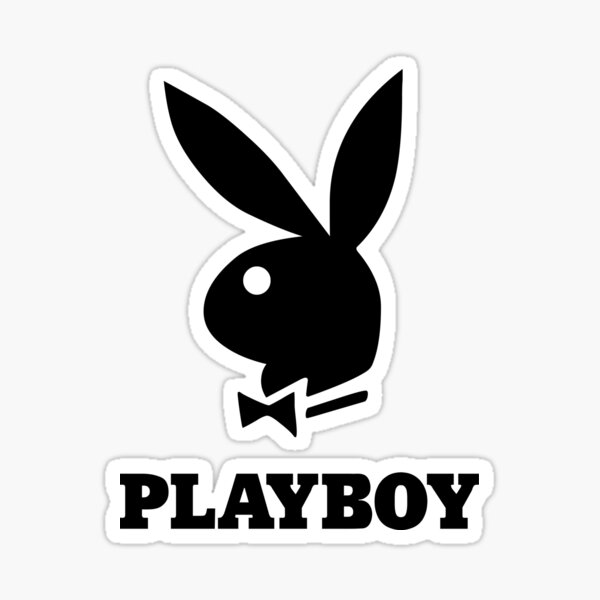 Playboy bunny logo, Beautiful artwork for sexy people. The Americans sexual symbol.  Sticker