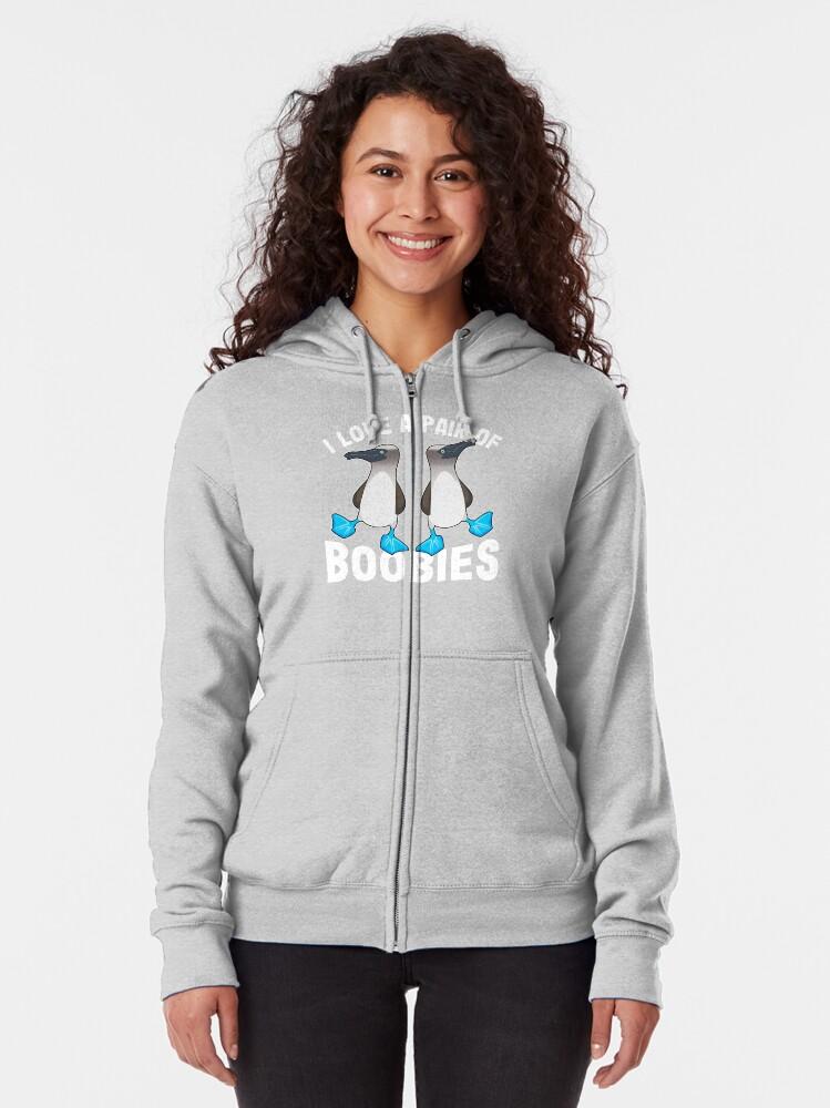 Mens Blue Footed Bobbie Bird Hooded Sweatshirt Funny Printed Pullover Hoodies Classic Long Sleeve T Shirt Tops