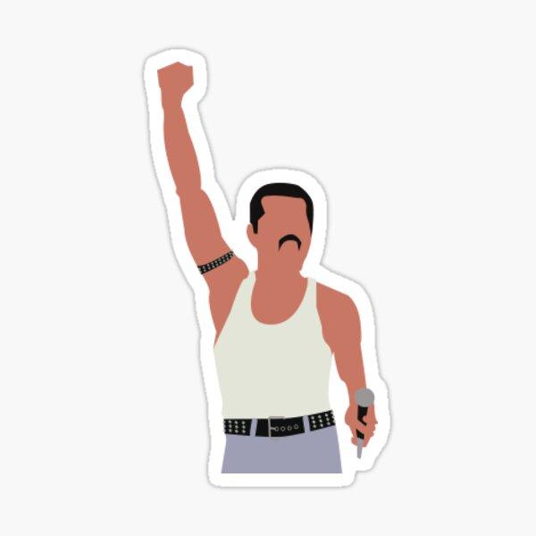 Freddie Mercury Fist sticker Sticker