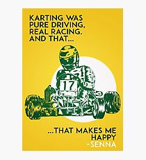 Senna Karting Photographic Print
