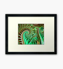 Fern Sprouts in the Forest Framed Print