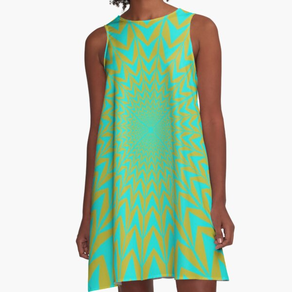 Design, #abstract, #pattern, #illustration, psychedelic A-Line Dress
