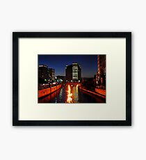 Providence WaterFire Framed Print