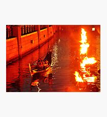 Providence WaterFire Gondola Photographic Print