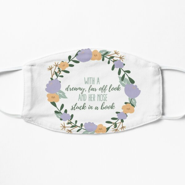 Bookworm Quote Flat Mask