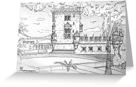 iPad case, Ipad deflector. Torre de Belém by terezadelpilar ~ art & architecture