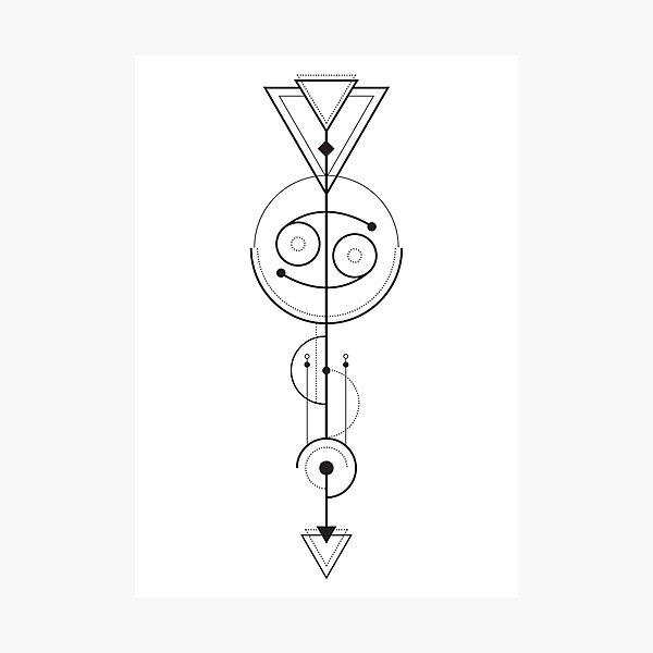 Cancer Astrology - Zodiac Arrow Photographic Print