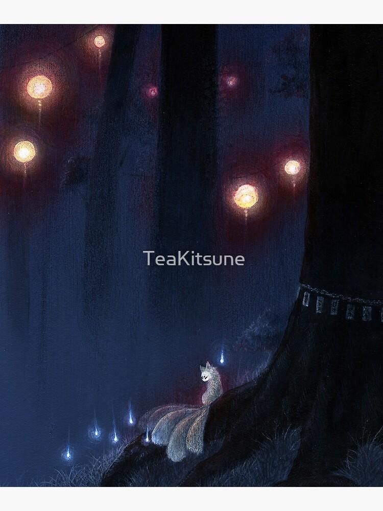 Forest Ghost - Kitsune Fox Yokai  by TeaKitsune
