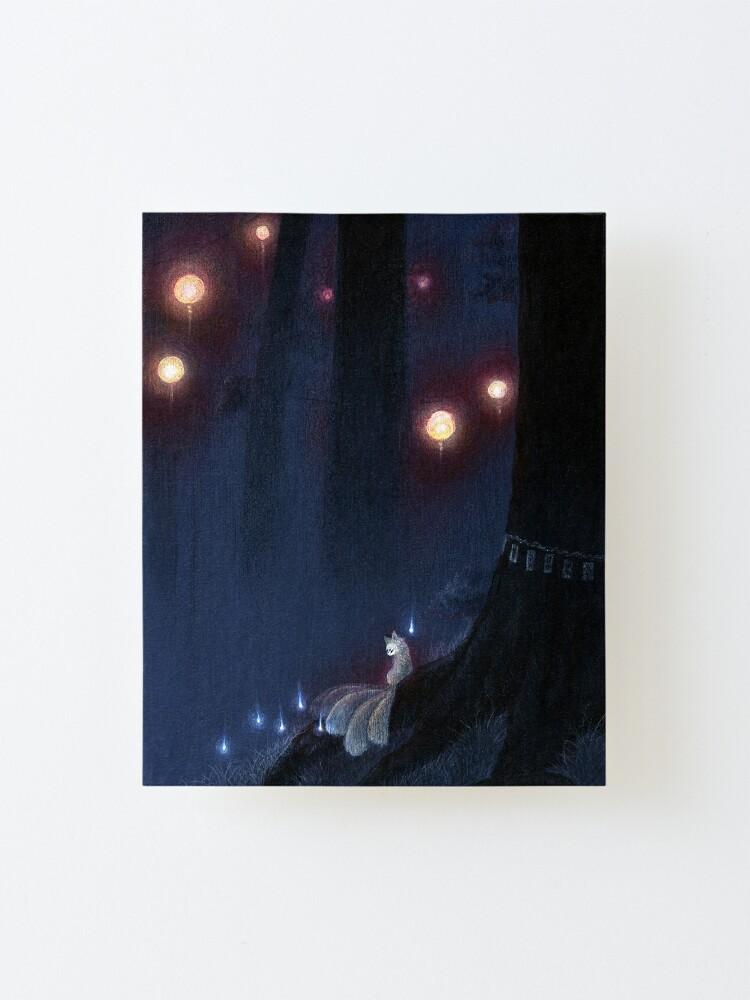 Alternate view of Forest Ghost - Kitsune Fox Yokai  Mounted Print