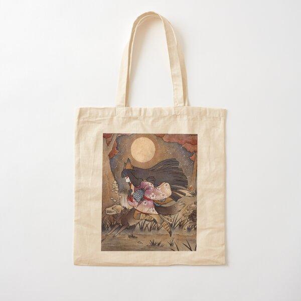 Running With Monsters - Kitsune Fox Yokai  Cotton Tote Bag