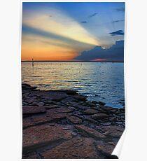 Lake Eufaula Rocks Poster