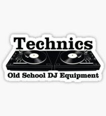 Technics Black Sticker