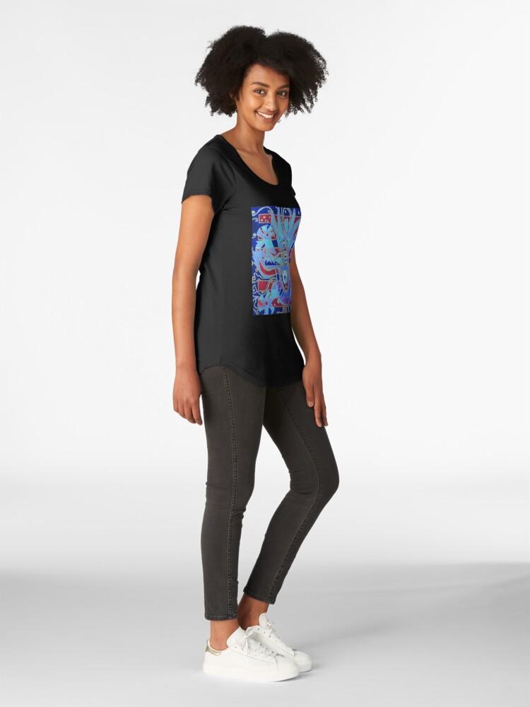 Alternate view of Hexagram 1: Ch'ien (Creative Force) Premium Scoop T-Shirt