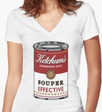 Souper Effective Women's Fitted V-Neck T-Shirt