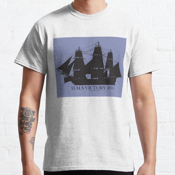 HMS Victory on blue 2 Classic T-Shirt