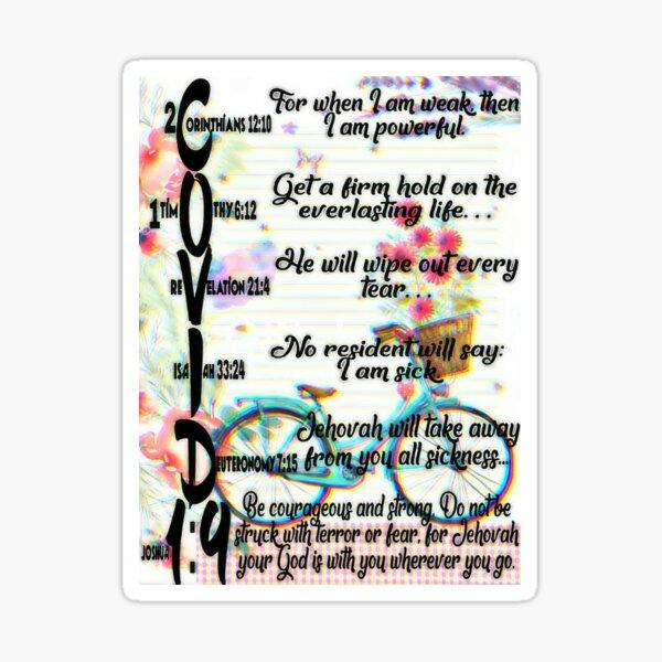 COVID 19 BIBLE TEXT  Sticker