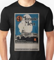 4 minute men a message from the government at Washington Committee on Public Information Unisex T-Shirt