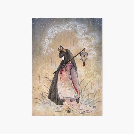 Bad Thoughts - Kitsune Fox Yokai  Art Board Print