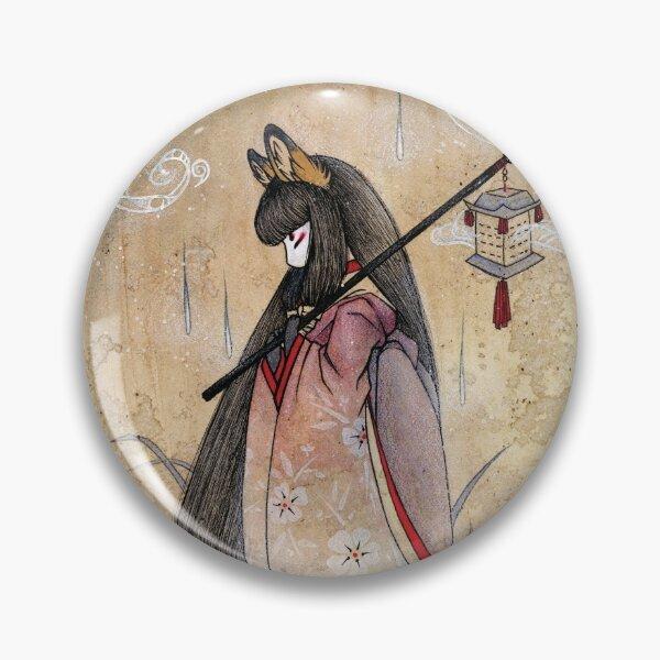 Bad Thoughts - Kitsune Fox Yokai  Pin