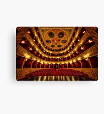 Classical theatre in Syros  Canvas Print