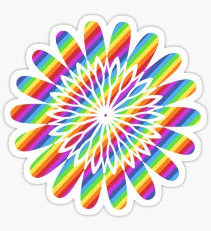 rainbow flower Sticker