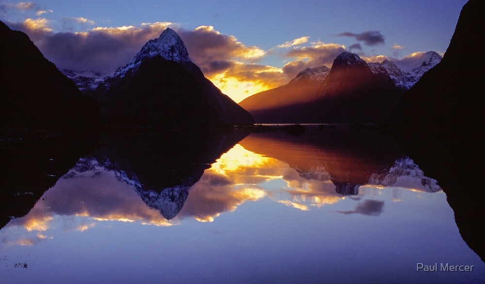 Milford Sound sunset by Paul Mercer