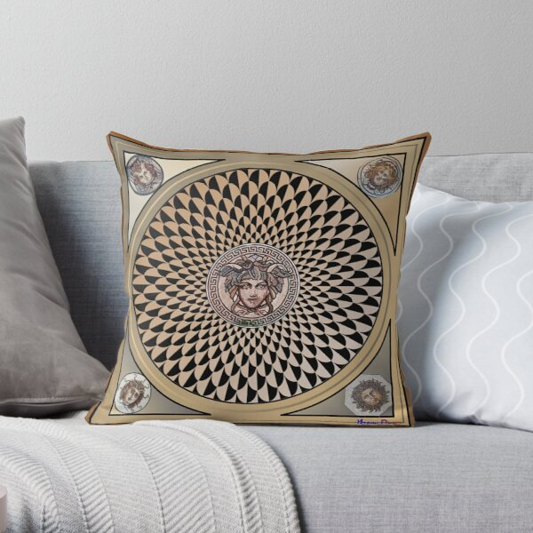 Radiant Medusa Throw Pillow