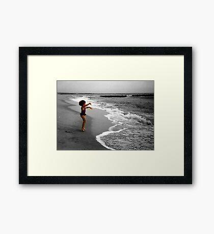 I Love The Ocean! Framed Print