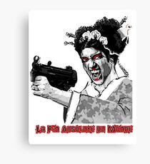 LA FIN ABSOLUTE: GEISHA & GUN LOGO 2 Canvas Print