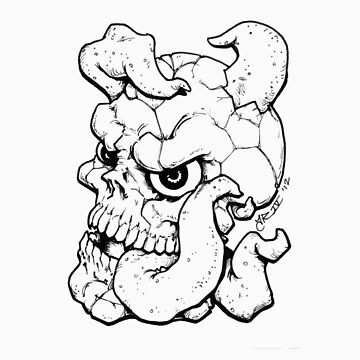 Tongue Skull by RoughsRoughs
