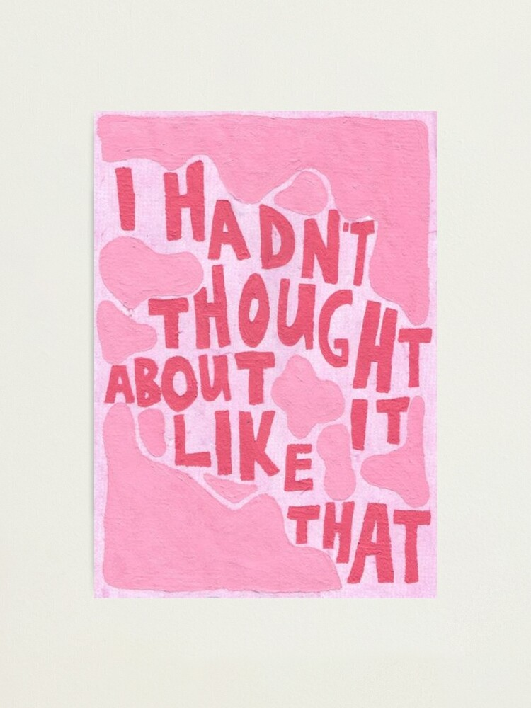 Alternate view of pink vintage quote aesthetic Photographic Print