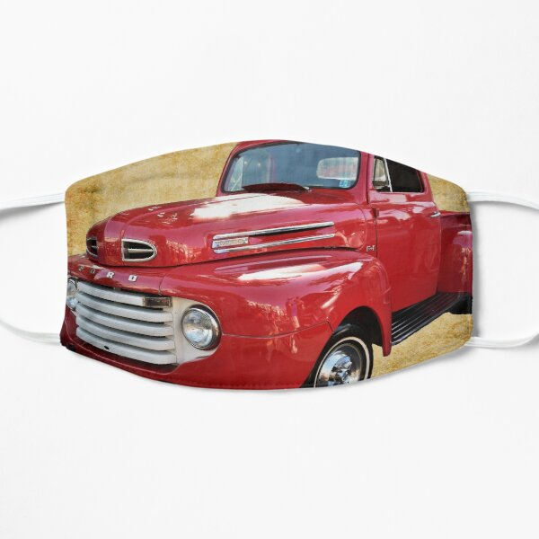 1949 Red Ford F1 Pickup Truck Mask