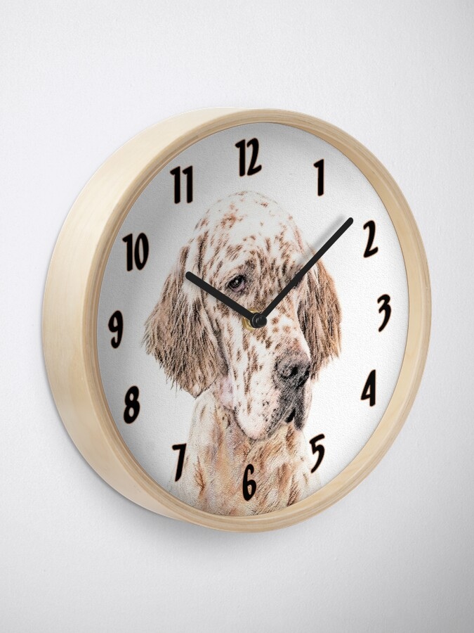 Alternate view of English Setter (Orange Belton) Clock