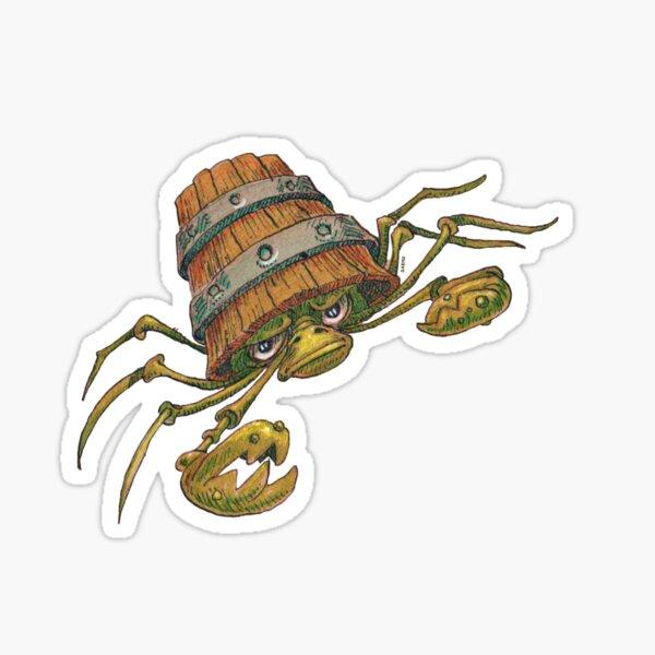 Crab-in-a-Bucket Sticker