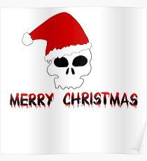 Skull merry christmas Poster