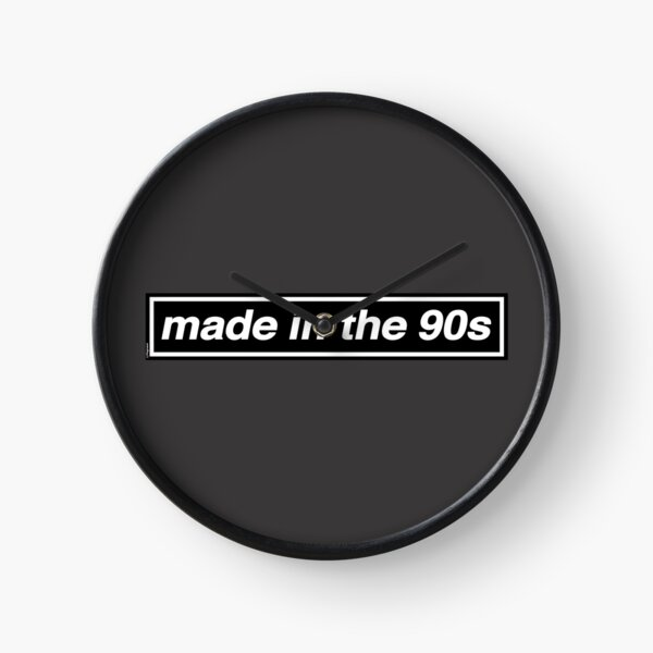 Made In The 90s - (THE ORIGINAL & BEST!) OASIS Band Tribute [Grey Background] Clock