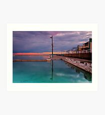 Poles, Sunset, Ocean Baths, Paradise Art Print